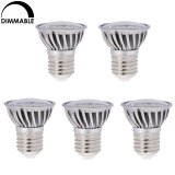 Dimmable PAR16/R16 E26/E27 Short Neck LED Bulb, 4.8 Watts, 50W Equivalent, 5-Pack