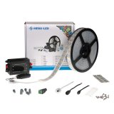 Single Color LED Strip Kits - LED Tape Light with 600 SMD 5050 LEDs, 24V DC, 144 Watts, IP65 Waterproof