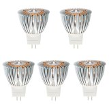 MR11 GU4 3W High Power LED Bulb, 20W Equivalent, 5-Pack