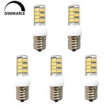 Dimmable Intermediate E17 Base LED Light Bulb, 3.5 Watts, 35W Equivalent, 5-Pack