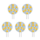 Side Pin T3 JC G4 LED Bulb, 1.8 Watts, 15W Equivalent, 5-Pack