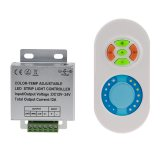 Variable White Color Temperature Touch LED Controller with RF Remote, 12-24V DC, 6A*3CH