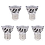 PAR16/R16 E26/E27 Short Neck LED Bulb, 4.8 Watts, 50W Equivalent, 5-Pack