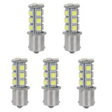 BA15S 1156 Single Contact Bayonet Base LED Bulb, 3.5 Watts, 35W Equivalent, 5-Pack