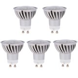 MR16 GU10 LED Bulb, 4.8 Watts, 50W Equivalent, 5-Pack