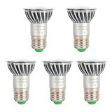 PAR16/R16 E26/E27 Long Neck LED Bulb, 4.8 Watts, 50W Equivalent, 5-Pack
