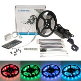 All-In-One Multicolor RGB LED Strip Kits - LED Tape Light with 150 SMD 5050 LEDs, 12V DC, 36 Watts, IP33 Nonwaterproof