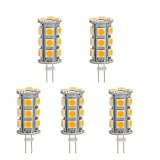 Back-Pin Tower T3 JC G4 LED Bulb, 3.6 Watts, 20-25W Equivalent, 5-Pack
