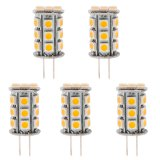 T4 GY6.35 12V LED Bulb, 3.5 Watts, 30-35W Equivalent, 5-Pack