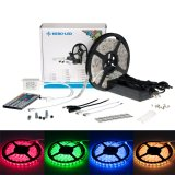 Multicolor RGB LED Strip Kits - LED Tape Light with 300 SMD 5050 LEDs, 12V DC, 72 Watts, IP65 Weatherproof