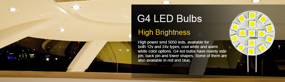 G4 LED Bulbs for Boats