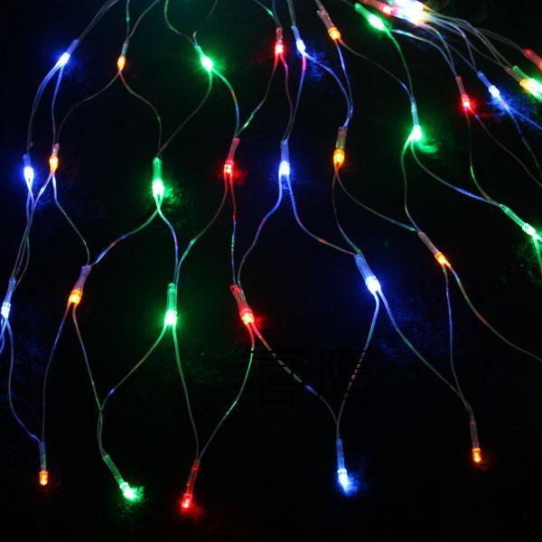 Christmas Lights - 5 Feet Wide and 5 Feet High 144-LED Net String with 8-Pattern Controller