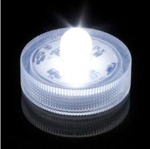 White Color Submersible Battery Operated LED Tealight Candle
