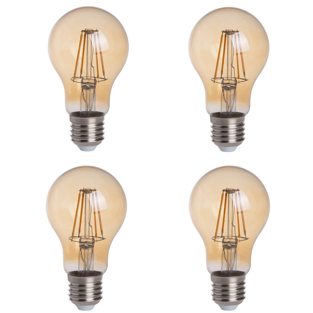 T10 E26 E27 4w Led Vintage Antique Filament Light Bulb: Gold Tint A19 E26/E27 4W LED Vintage Antique Filament