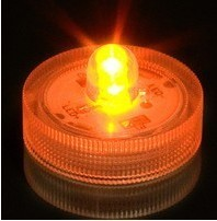 Amber Color Submersible Battery Operated LED Tealight Candle