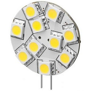 Marine Boat Yacht Lights - Side Pin G4 12V AC/DC 9 x Tri-Chip 5050 SMD LED Bulb 120 Degree - 20W Equal