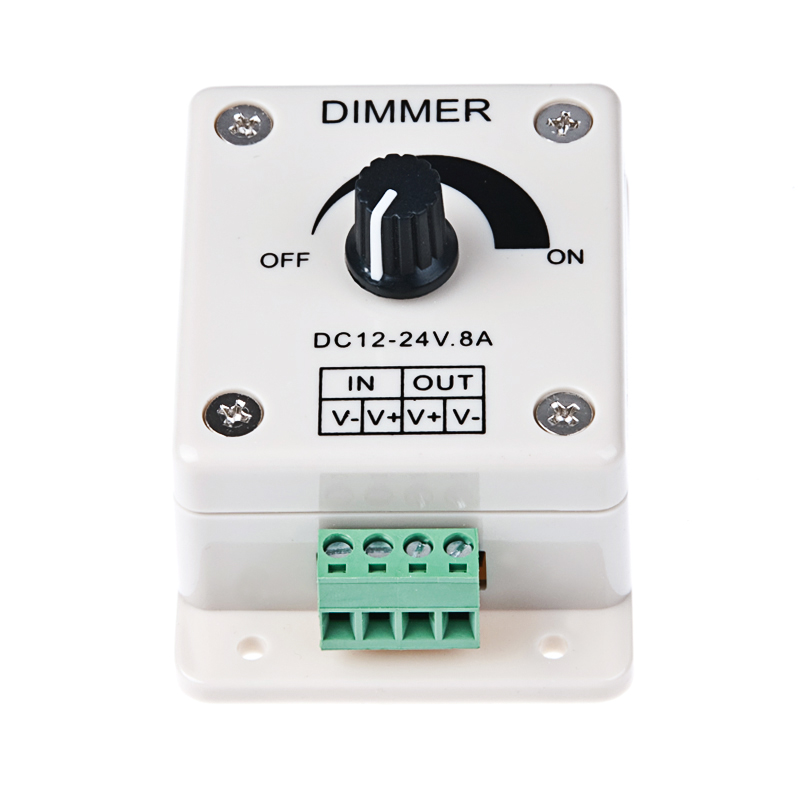 Dial Dimmer for all Single Colour LED Tape 12v / 24v DC 8 Amps