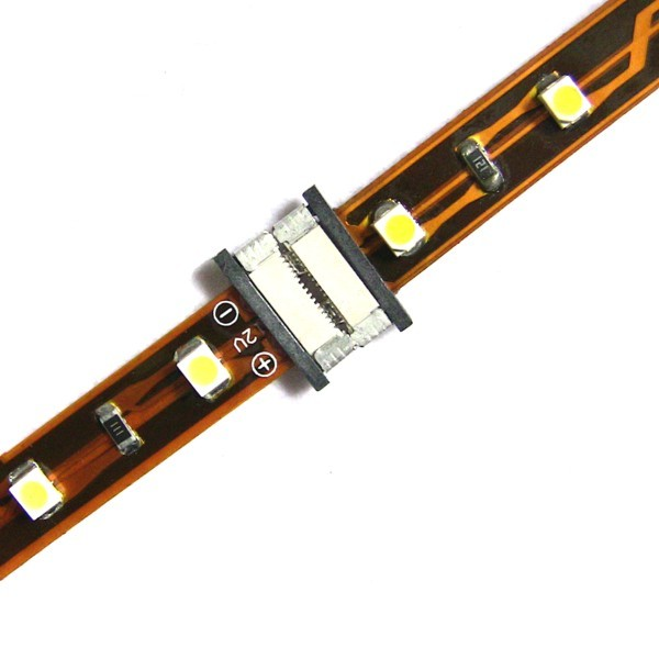 8mm Wide No Solder Connector for Single-Chip Led Strip - Both Sides
