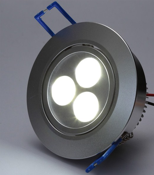 High Power 3 x 1W LED Recessed Downlights 3W=35W