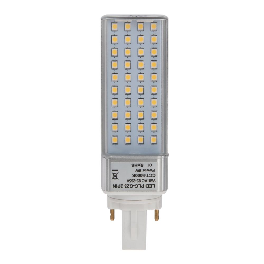 plc lamp g23d 2 pin led bulb 8 watts 18w equivalent g23d 8w hero. Black Bedroom Furniture Sets. Home Design Ideas