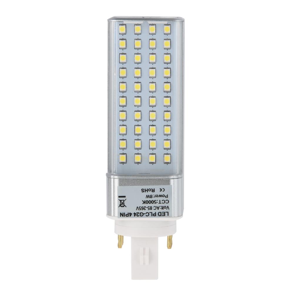 Plc Lamp G24q 4 Pin Led Bulb 8 Watts 18w Equivalent G24