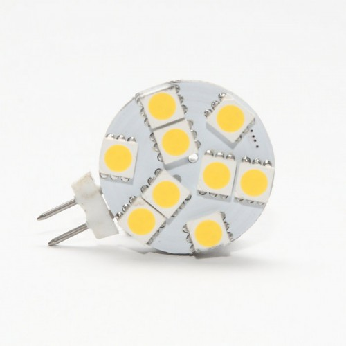 Side Pin G4 12V AC/DC 9 x Tri-Chip 5050 SMD LED Bulb 120 Degree - 20W Equal