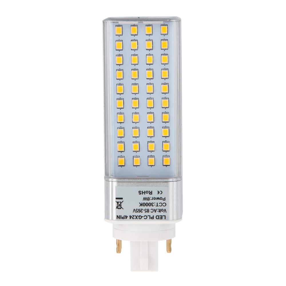 Plc Lamp Gx24q 4 Pin Led Bulb 8 Watts 18w Equivalent
