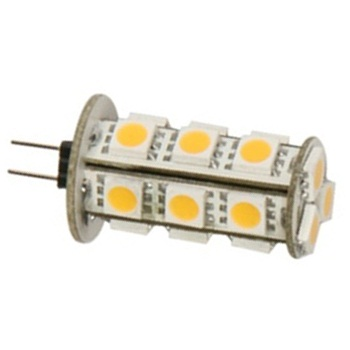 Marine Boat Yacht Lights - Back Pin Tower G4 12V AC/DC 18 x Tri-Chip 5050 SMD LED Bulb 360 Degree - 35W Equal