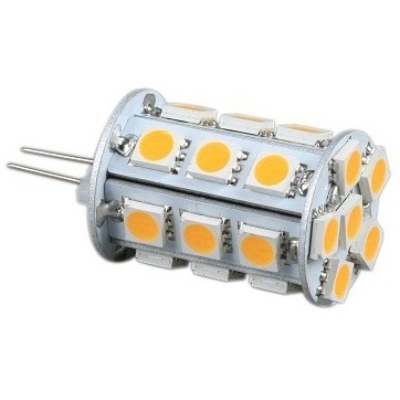 Back Pin Tower G4 12V AC/DC 24 x Tri-Chip 5050 SMD LED Bulb 360 Degree - 45W Equal