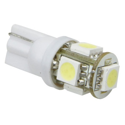 Automotive Led Light T10/194 Ultra Bright 5 x Tri-Chip SMD Led Xenon White
