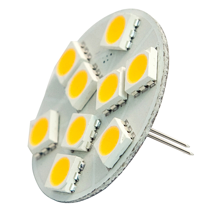 Extended Back Pin G4 12V AC/DC 9 x Tri-Chip 5050 SMD LED Bulb 120 Degree - 20W Equal