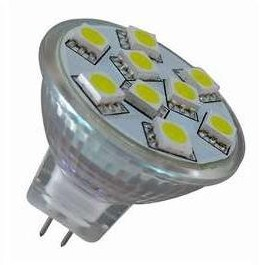 MR11 GU4 12V AC/DC 9 x Tri-Chip 5050 SMD LED Bulb 120 Degree - 20W Equal