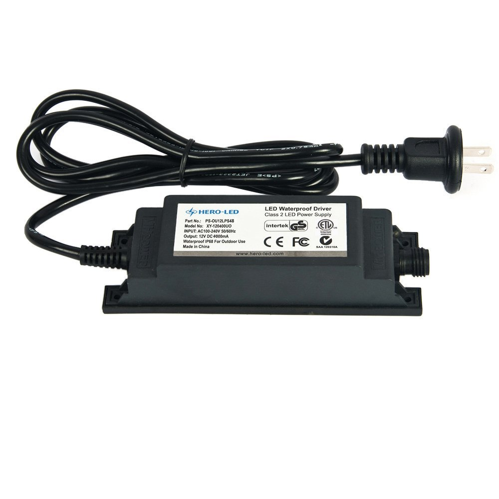 Waterproof IP68 LED Driver 12V DC, 4A