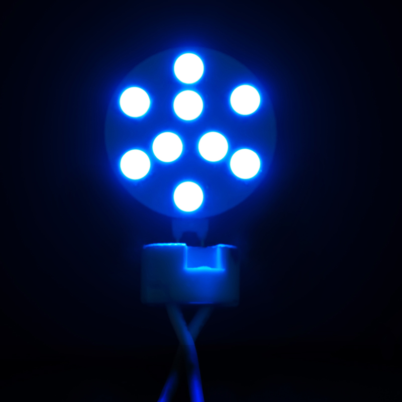 Marine Boat Yacht Lights - Side Pin G4 24V 9 x Tri-Chip 5050 SMD Blue LED Bulb 120 Degree - 15W Equal