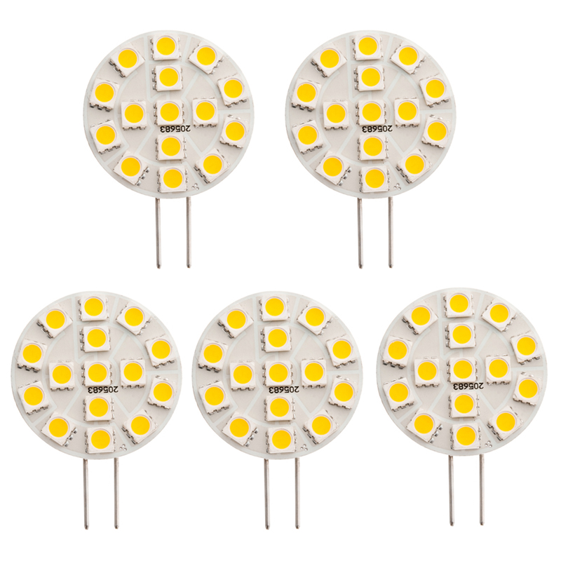 GY6.35 12V AC/DC 15 x Tri-Chip 5050 SMD LED Bulb 120 Degree - 25W Equal