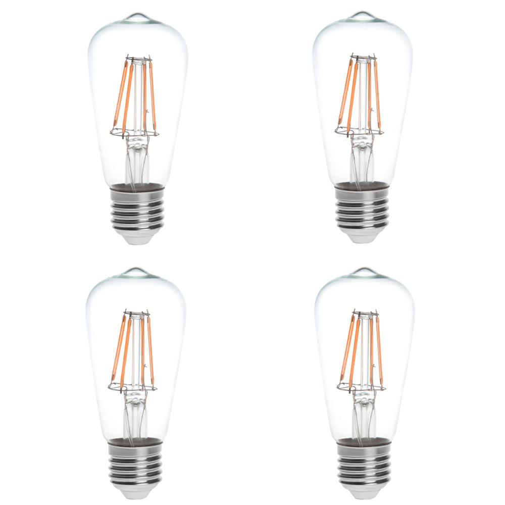 T10 E26 E27 4w Led Vintage Antique Filament Light Bulb: ST15 E26/E27 4W LED Vintage Antique Filament Light Bulb
