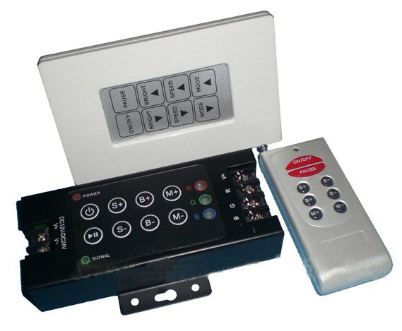 RGB LED Remote Controller with Wall Panel 12v / 24v DC 12A