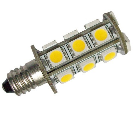 Single Ended E11 12V AC/DC 18 x Tri-chip 5050 SMD LED Bulb 360 Degree - 30W Equal
