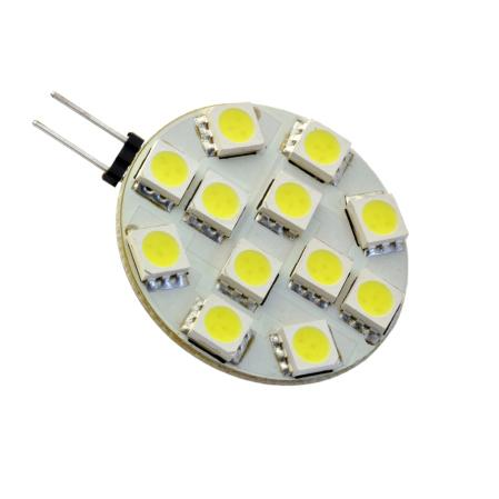 Side Pin G4 12V AC/DC 12 x Tri-Chip 5050 SMD LED Bulb 120 Degree - 25W Equal