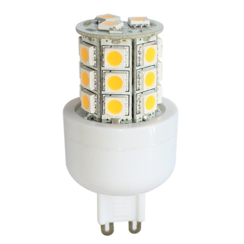 G9 AC85-265V 24 x Tri-chip 5050 SMD LED Bulb 360 Degree - 45W Equal