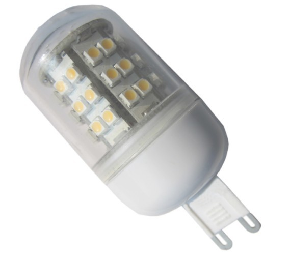 G9 AC85-265V 48 x Single-chip 3528 SMD LED Bulb 360 Degree With Cover - 30W Equal