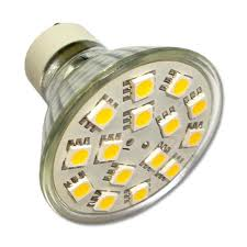 GU10 AC100-240V 15 x Tri-Chip 5050 SMD LED Bulb 120 Degree - 30W Equal