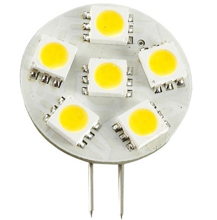 Marine Boat Yacht Lights - Side Pin G4 12V AC/DC 6 x Tri-Chip 5050 SMD LED Bulb 120 Degree - 12W Equal