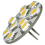 Back Pin G4 12V AC/DC 9 x Tri-Chip 5050 SMD LED Bulb 120 Degree - 20W Equal