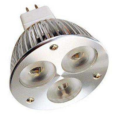 Landscape LED Replacement MR16 GU5.3 12V AC/DC 3 x 1W LED Bulb 45 Degree - 35W Equal