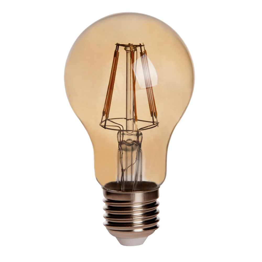 Gold Tint A19 E26 E27 6w Led Vintage Antique Filament Light Bulb 60w Equivalent 4 Pack A19