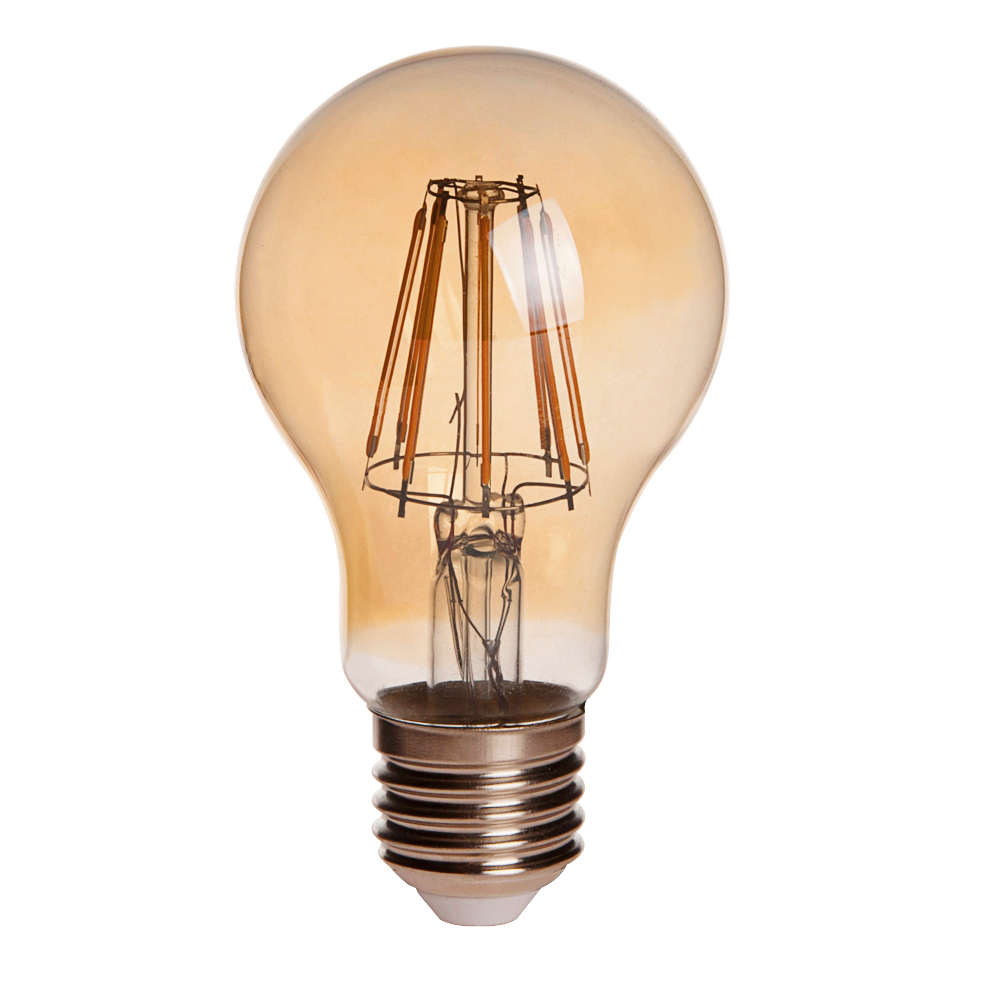 Gold Tint A19 E26 E27 8w Led Vintage Antique Filament Light Bulb 75w Equivalent 4 Pack A19