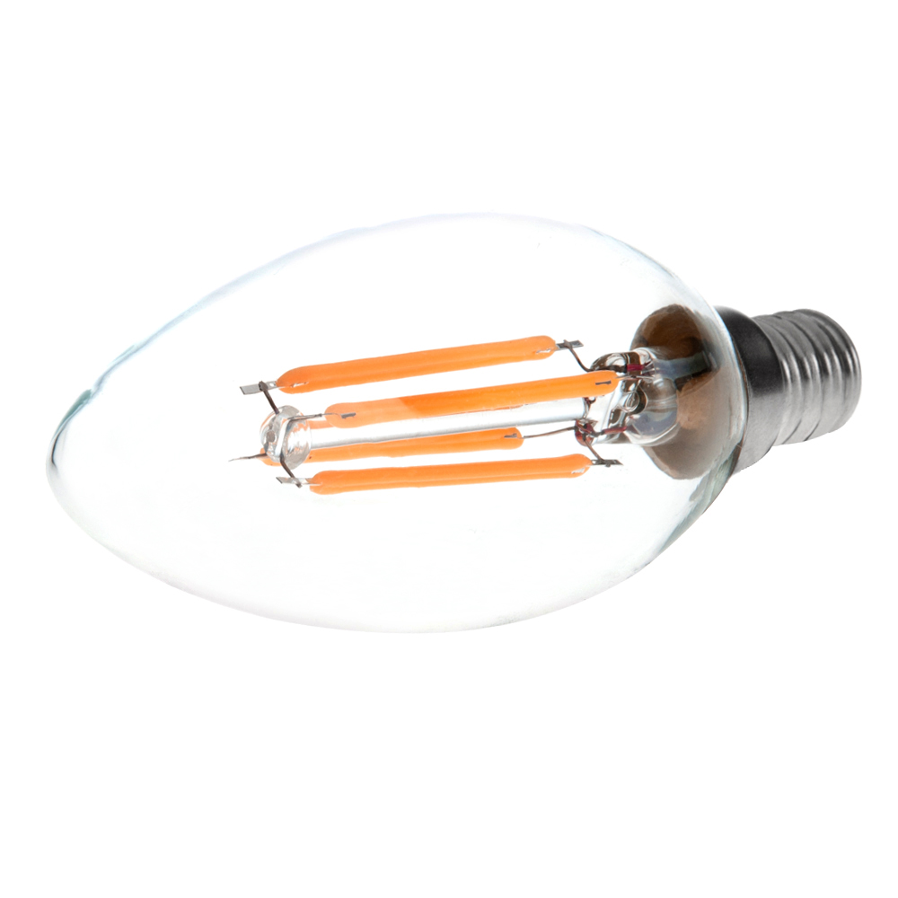 Newhouse Lighting 40w Equivalent Incandescent B10: B10 E12 4W LED Vintage Antique Filament Light Bulb, 40W