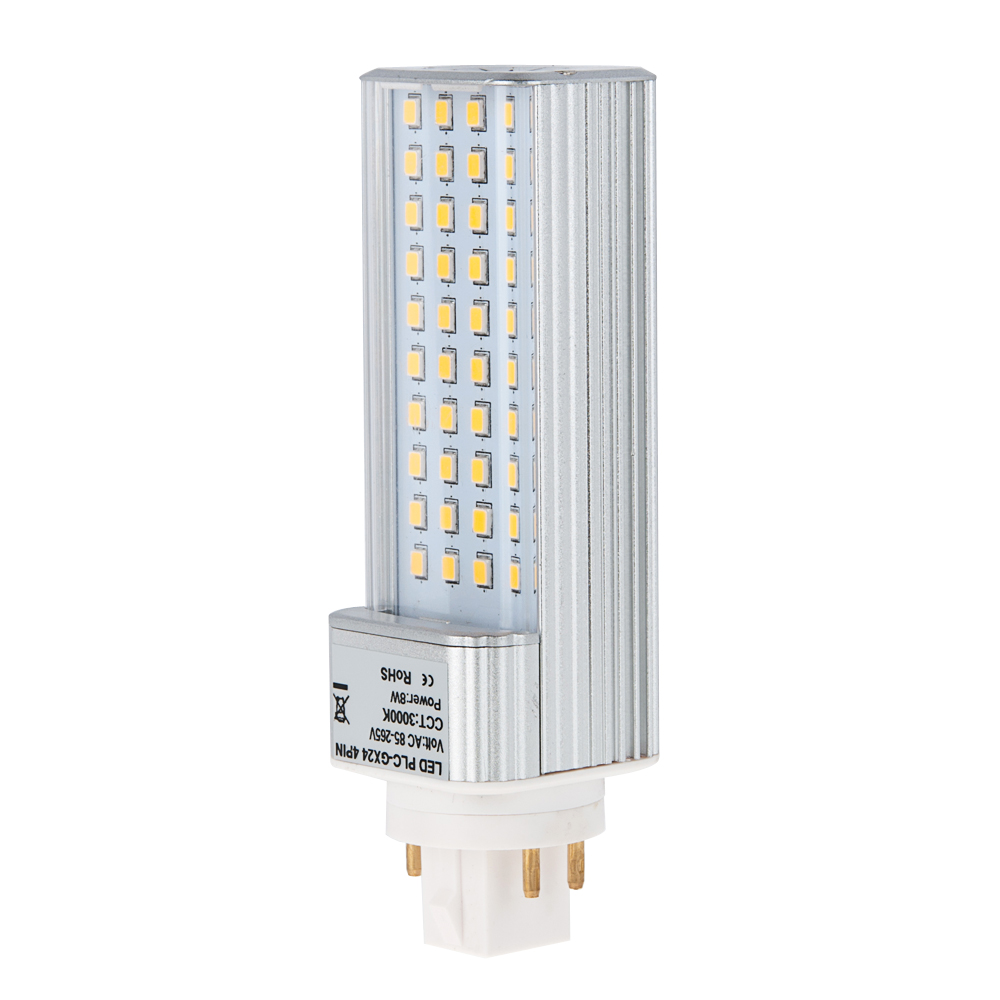 Plc Lamp Gx24q 4 Pin Led Bulb 8 Watts 18w Equivalent Gx24 40s 4p Hero