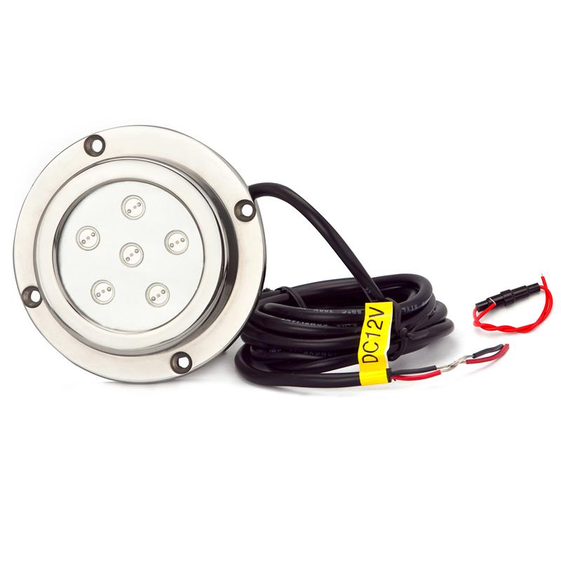 LED onderwater verlichting voor boten, 6x1W, Ronde [MB-UWL6X1W ...